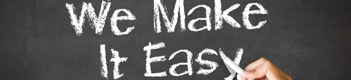 We Make It Easy Chalk Illustration