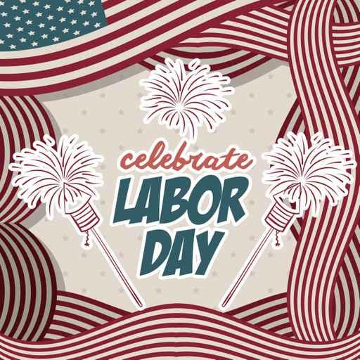 Retro Labor day design